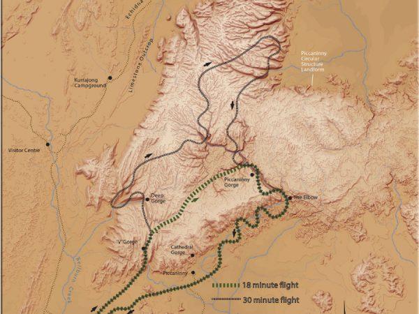 HeliSpirit Flight Path Map Air Tours